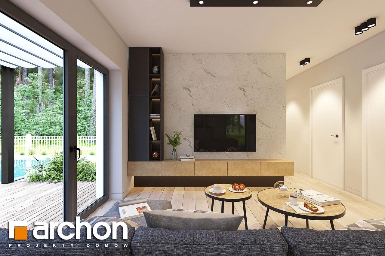 Проект дома ARCHON+ Дом в коручках 4 дневная зона (визуализация 1 вид 1)