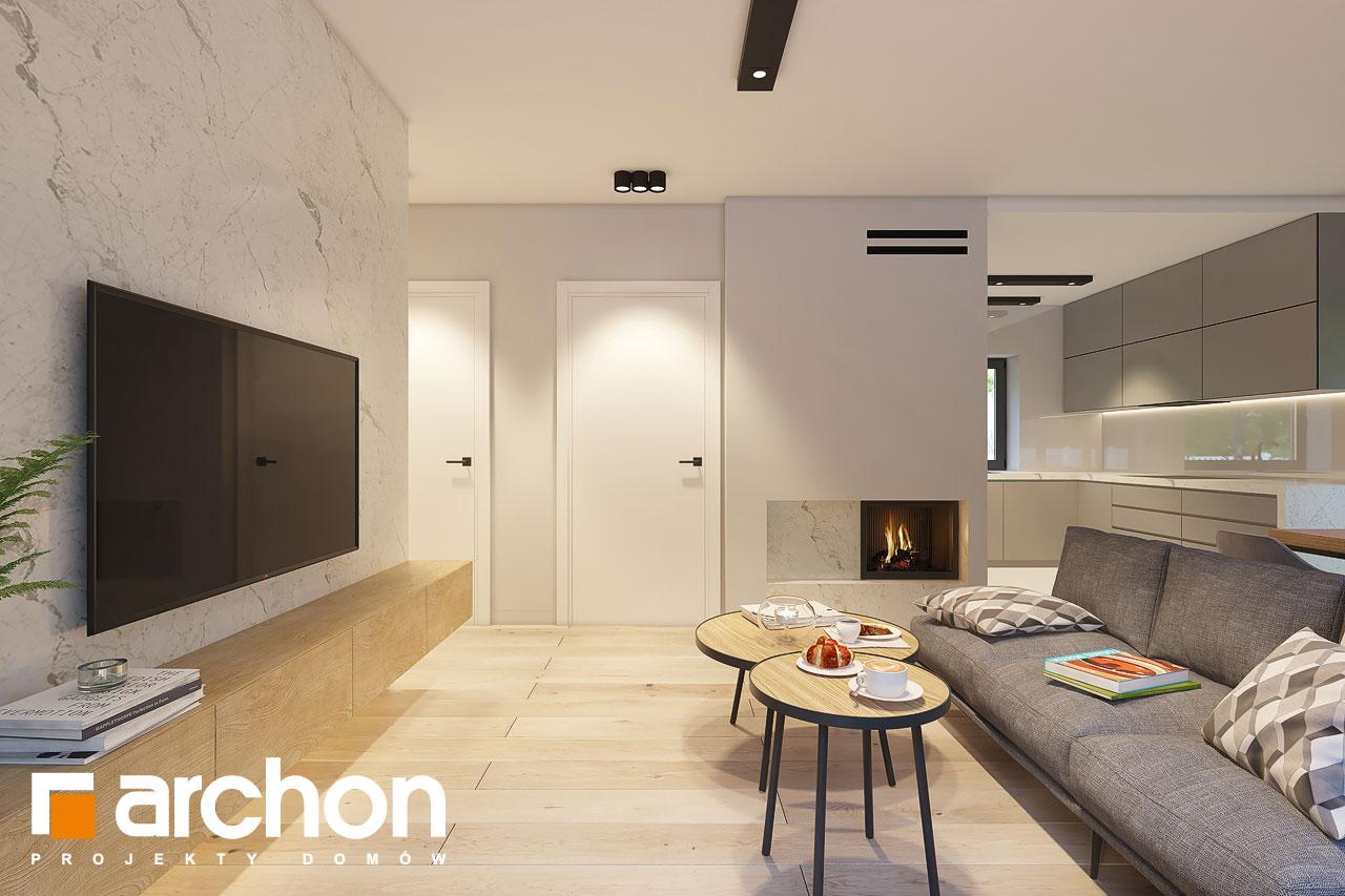 Проект дома ARCHON+ Дом в коручках 4 дневная зона (визуализация 1 вид 2)