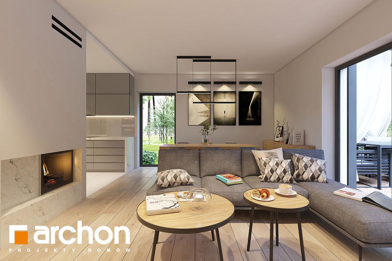 Проект дома ARCHON+ Дом в коручках 4 дневная зона (визуализация 1 вид 3)