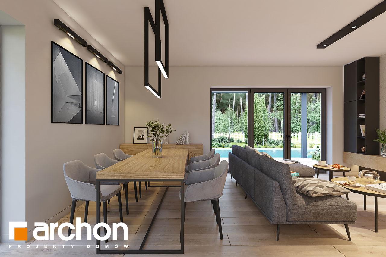 Проект дома ARCHON+ Дом в коручках 4 дневная зона (визуализация 1 вид 4)