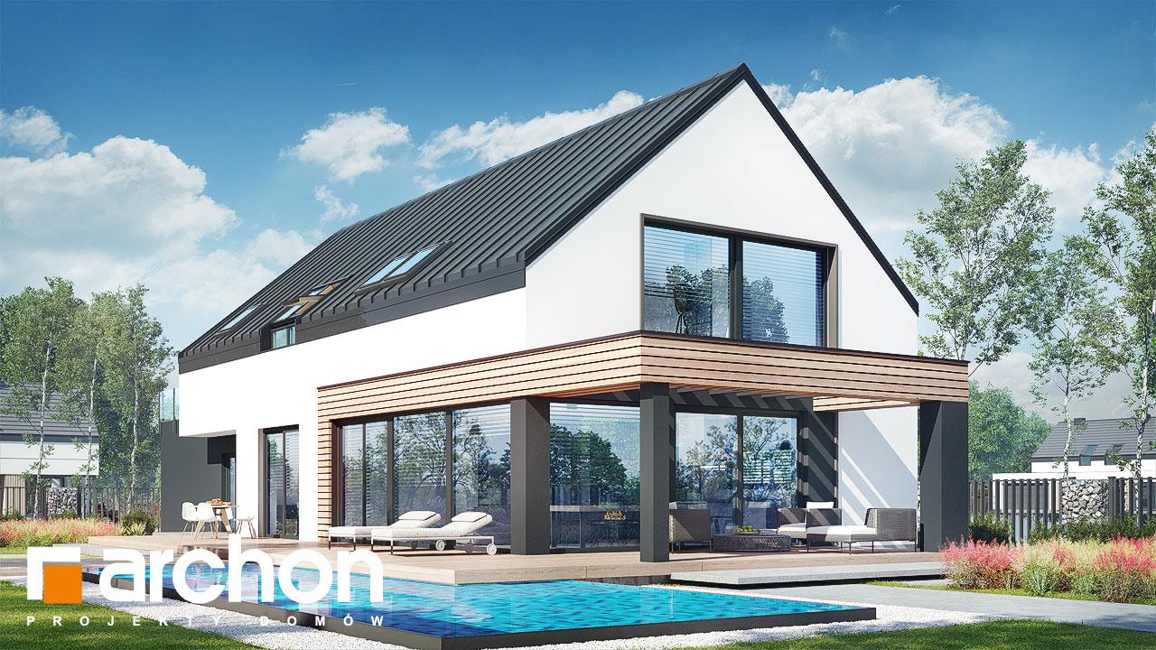 Проект будинку ARCHON+ Будинок в агапантах 2 (Г2) Вид 2