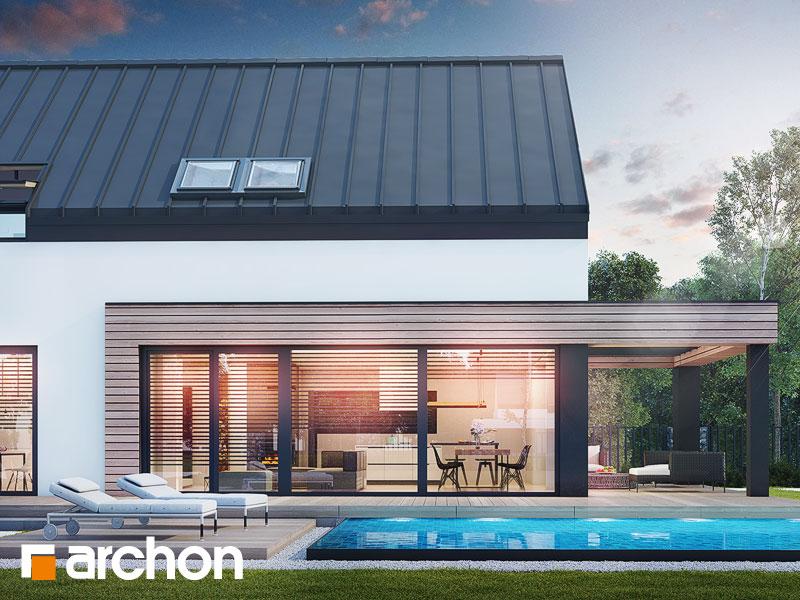 Проект будинку ARCHON+ Будинок в агапантах 2 (Г2) Вид 1