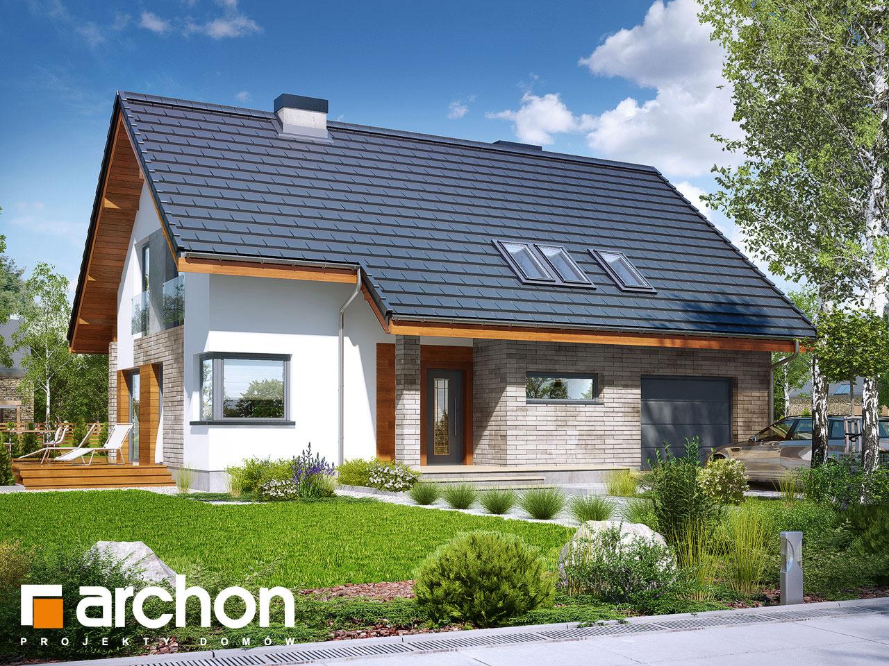 Проект будинку ARCHON+ Будинок у бровниках 3 Вид 2