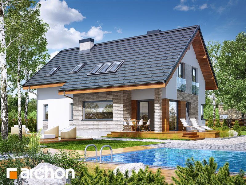 Проект будинку ARCHON+ Будинок у бровниках 3 Вид 1