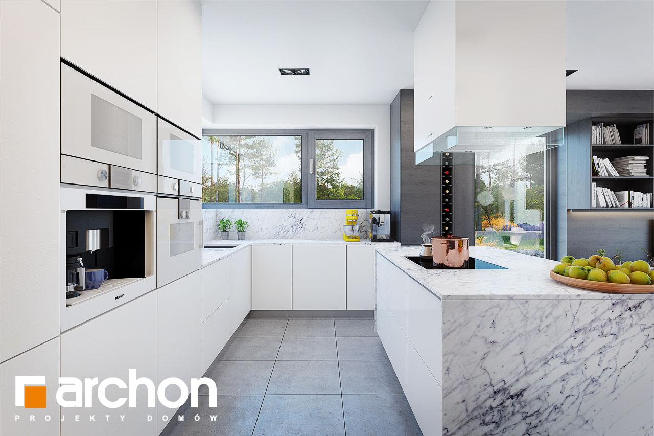 Проект будинку ARCHON+ Будинок в анабеліях візуалізація кухні 1 від 1