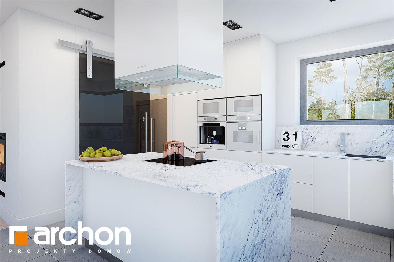 Проект будинку ARCHON+ Будинок в анабеліях візуалізація кухні 1 від 2