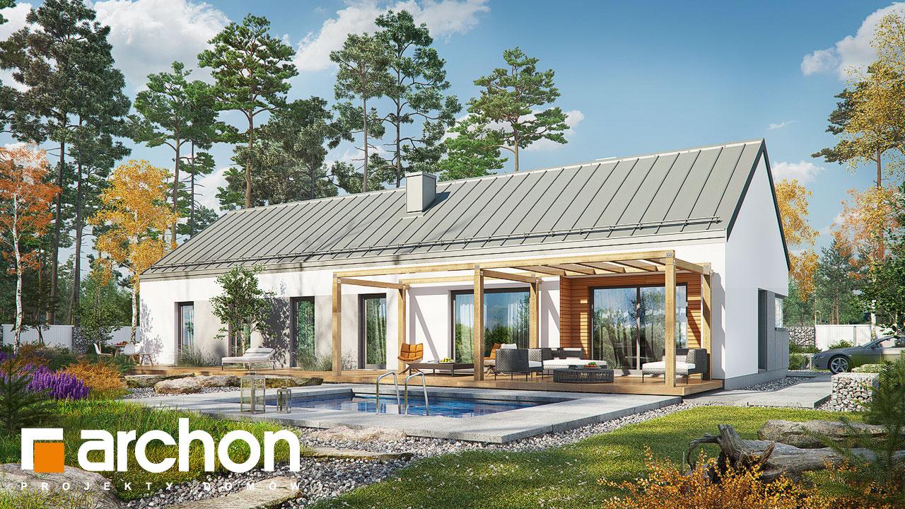 Проект будинку ARCHON+ Будинок в анабеліях Вид 2