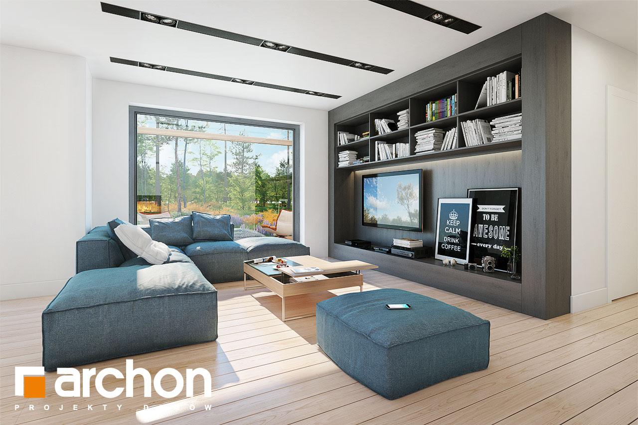 Проект будинку ARCHON+ Будинок в анабеліях денна зона (візуалізація 1 від 2)