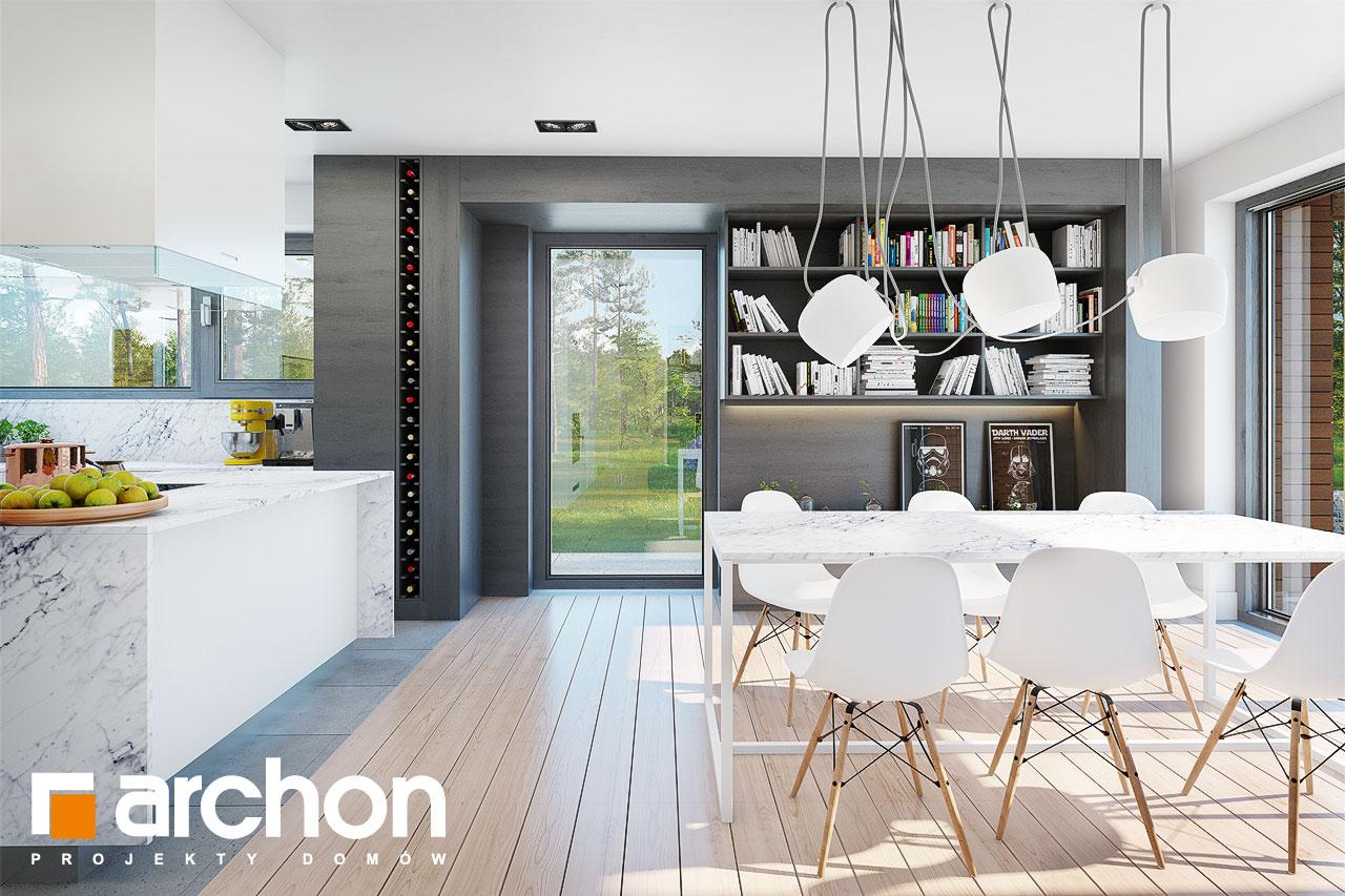 Проект будинку ARCHON+ Будинок в анабеліях денна зона (візуалізація 1 від 4)