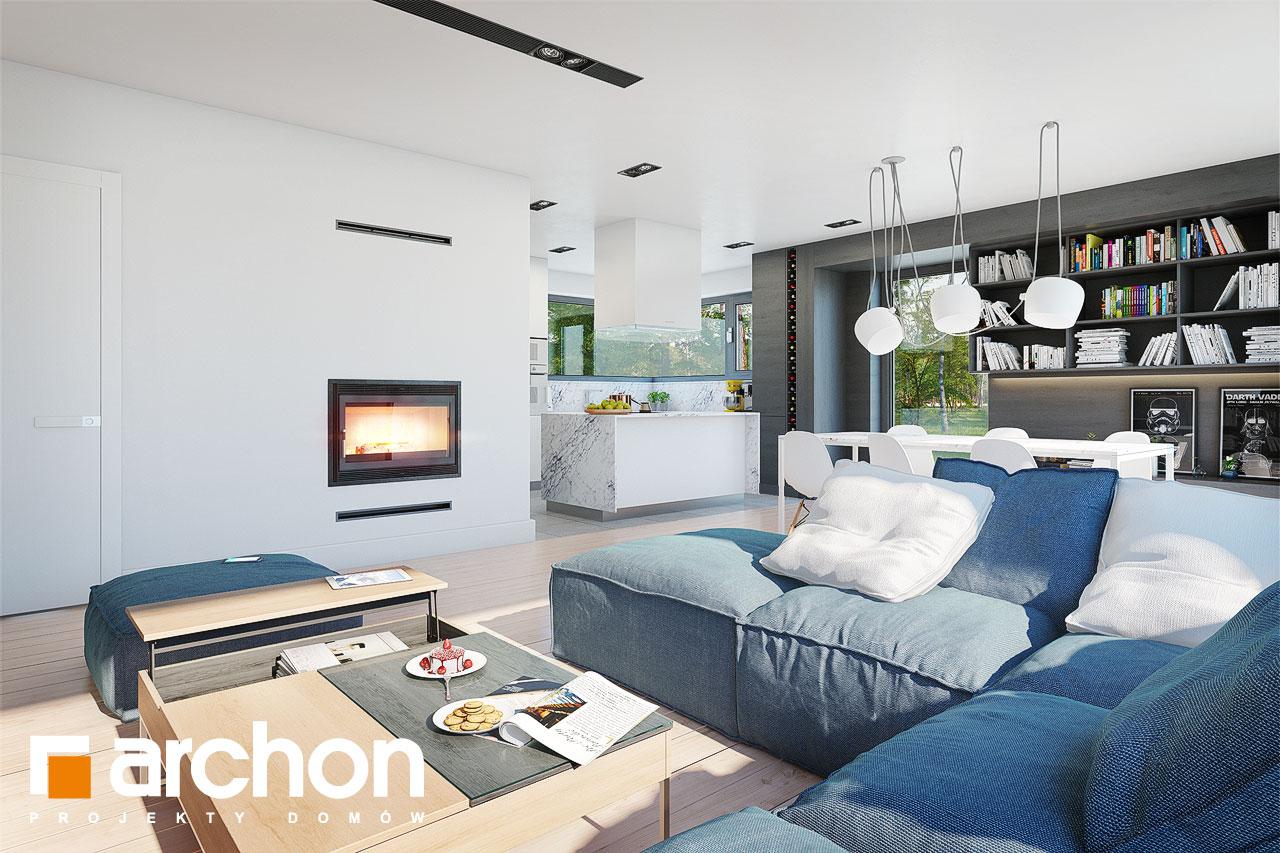 Проект будинку ARCHON+ Будинок в анабеліях денна зона (візуалізація 1 від 5)