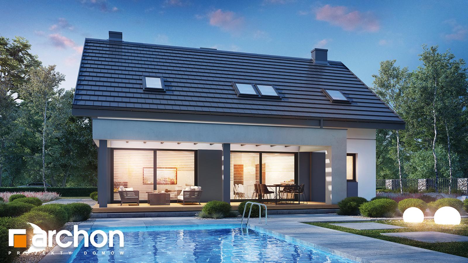 Проект будинку ARCHON+ Будинок в гречці (Г2)