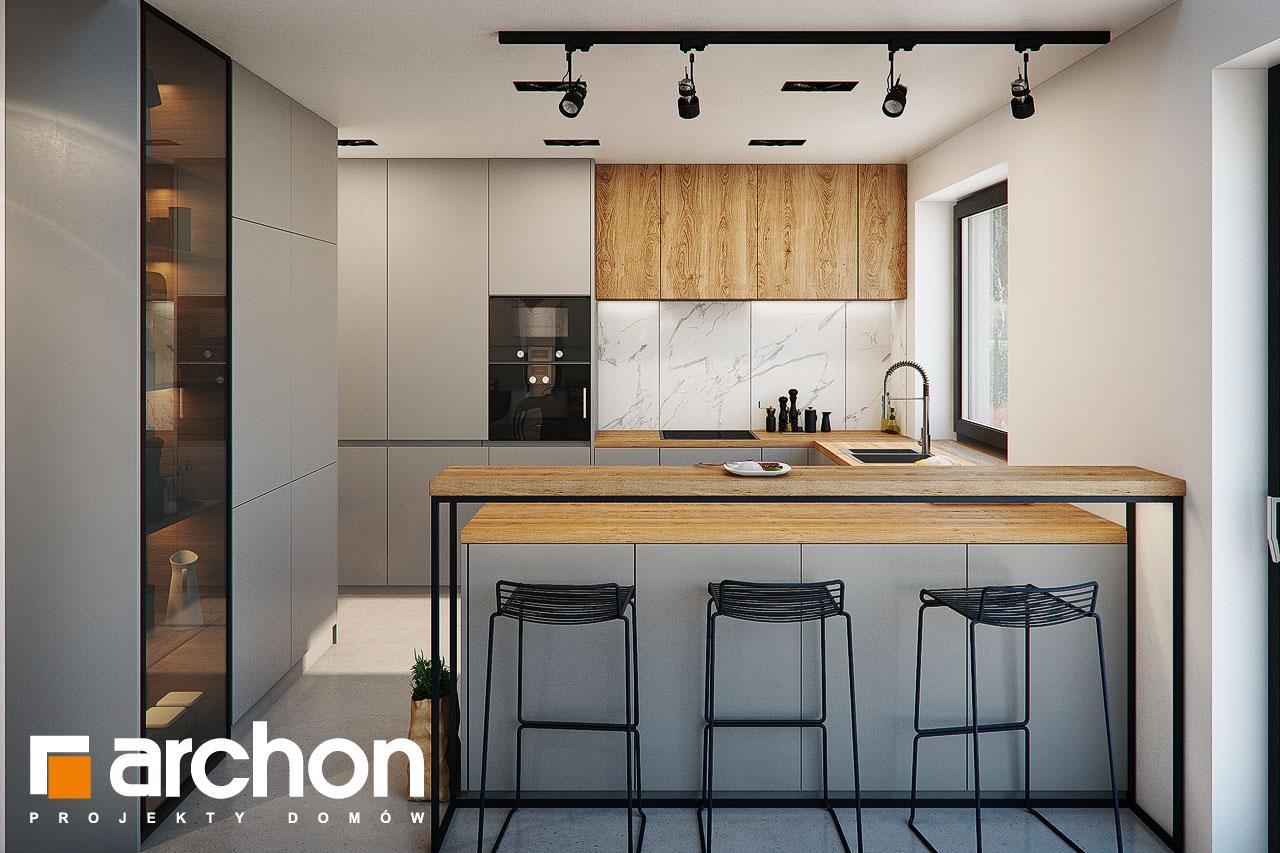 Проект будинку ARCHON+ Будинок в гречці (Г2) візуалізація кухні 1 від 1
