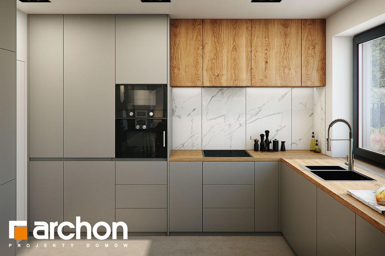 Проект будинку ARCHON+ Будинок в гречці (Г2) візуалізація кухні 1 від 2