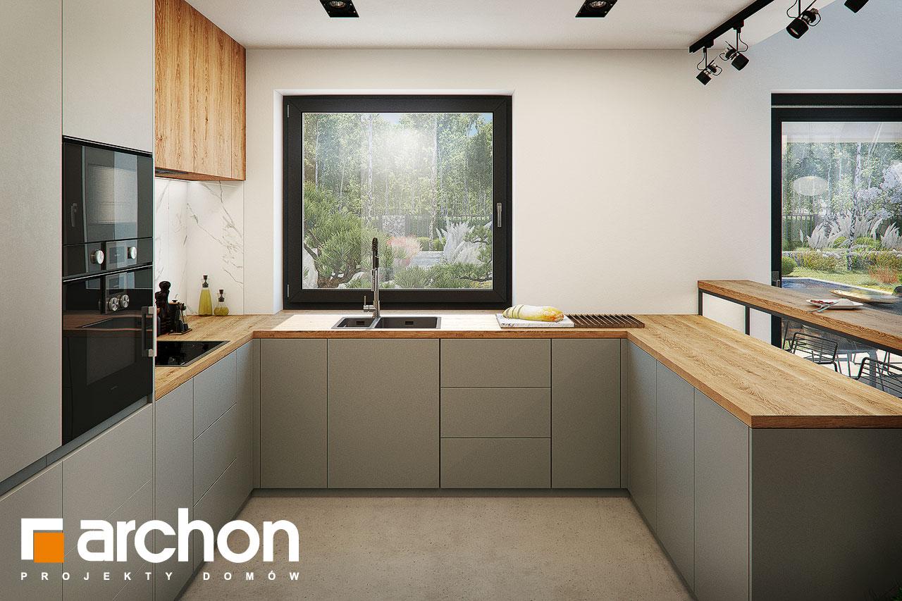 Проект будинку ARCHON+ Будинок в гречці (Г2) візуалізація кухні 1 від 3