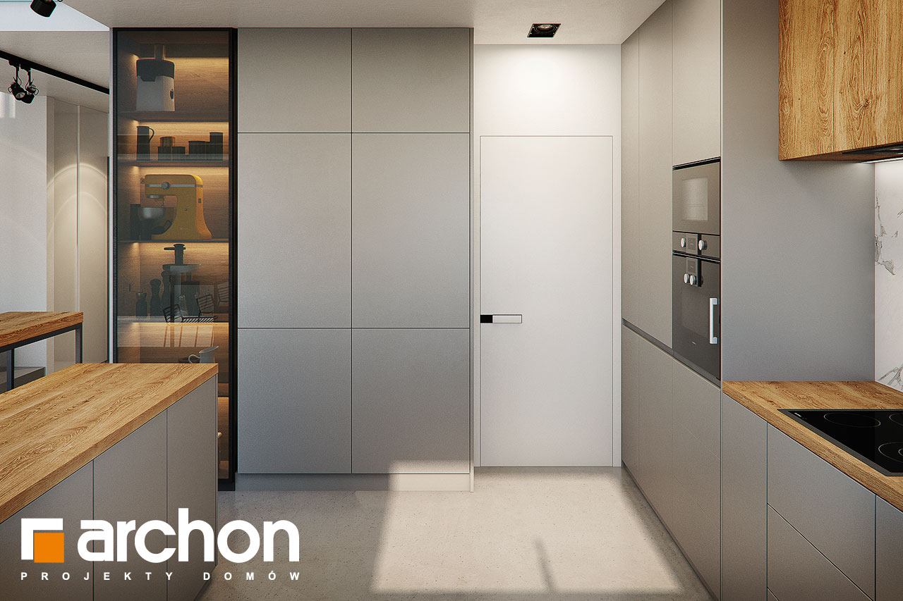 Проект будинку ARCHON+ Будинок в гречці (Г2) візуалізація кухні 1 від 4