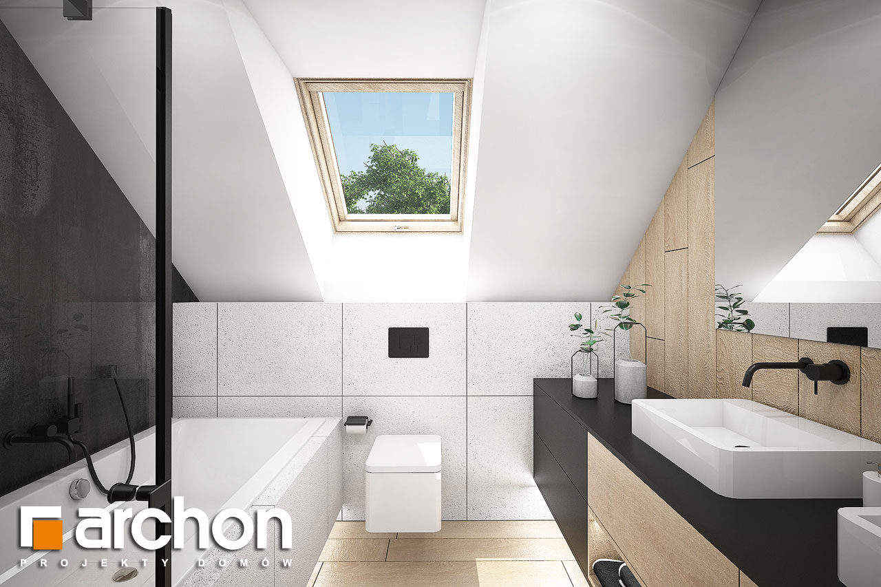 Проект будинку ARCHON+ Будинок в гречці (Г2) візуалізація ванни (візуалізація 3 від 1)