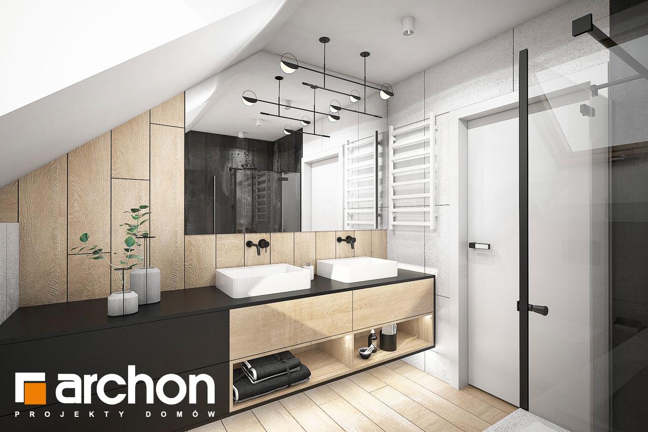 Проект будинку ARCHON+ Будинок в гречці (Г2) візуалізація ванни (візуалізація 3 від 2)