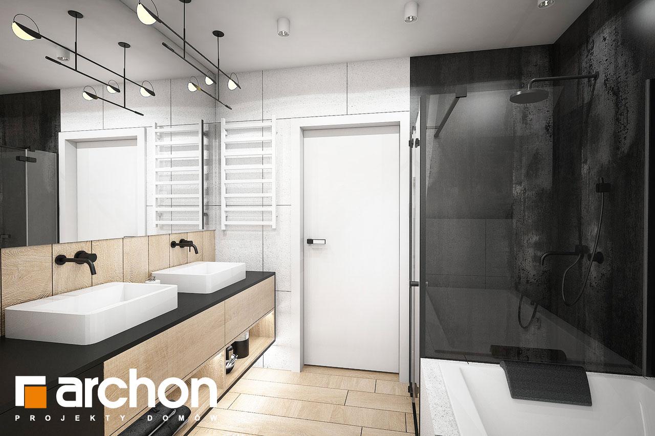 Проект будинку ARCHON+ Будинок в гречці (Г2) візуалізація ванни (візуалізація 3 від 3)