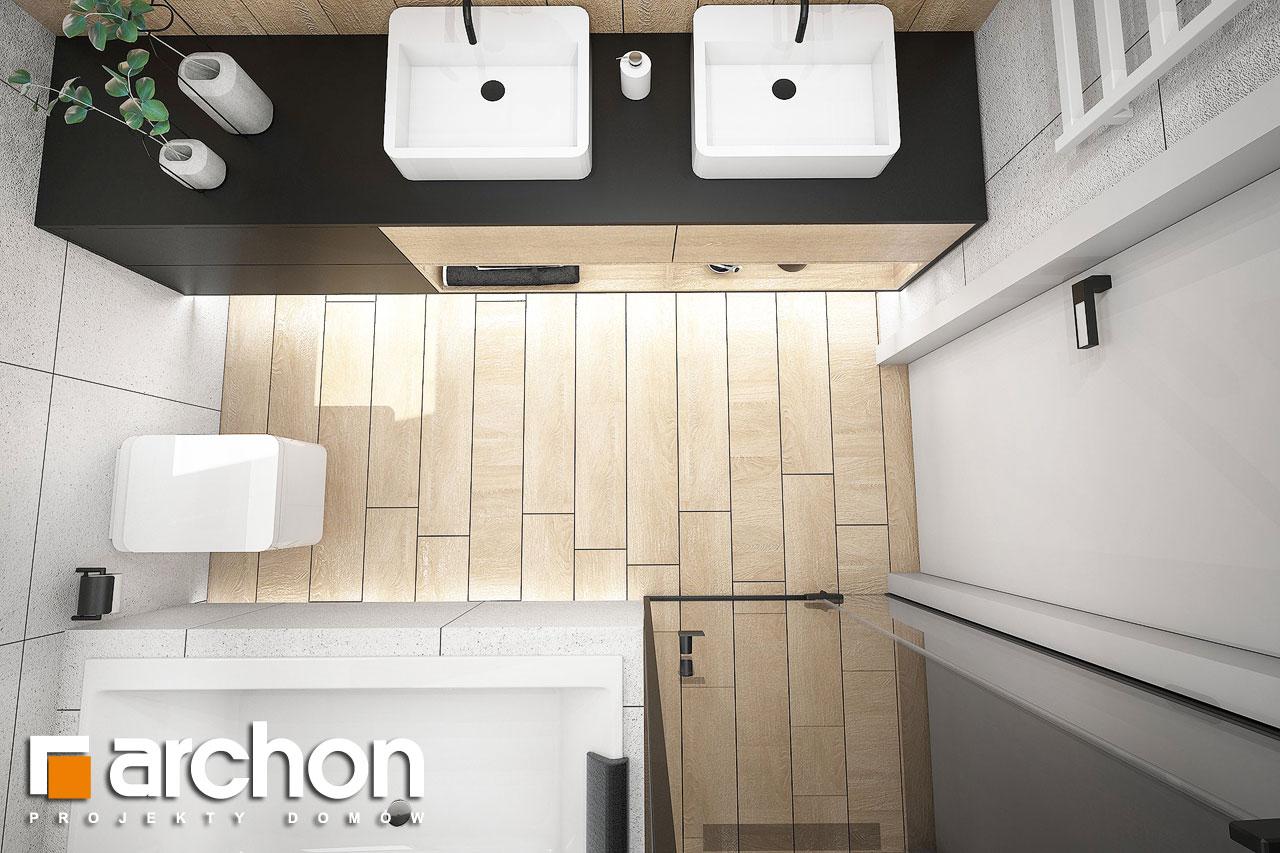 Проект будинку ARCHON+ Будинок в гречці (Г2) візуалізація ванни (візуалізація 3 від 4)
