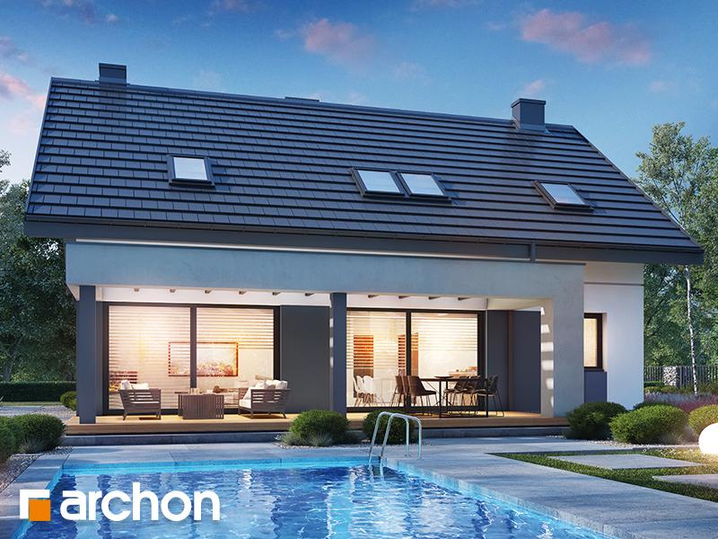 Проект будинку ARCHON+ Будинок в гречці (Г2) Вид 2