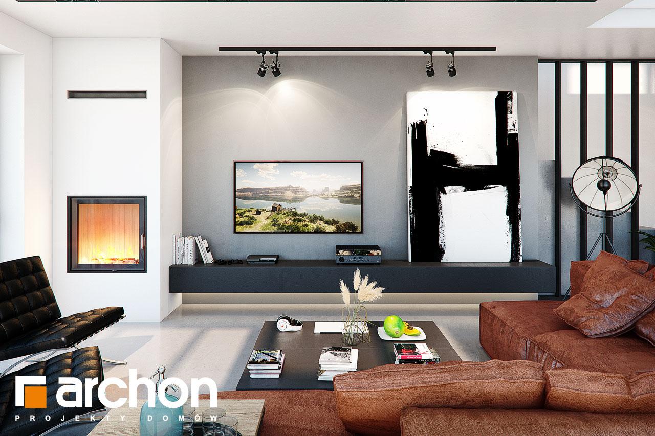 Проект будинку ARCHON+ Будинок в гречці (Г2) денна зона (візуалізація 1 від 1)