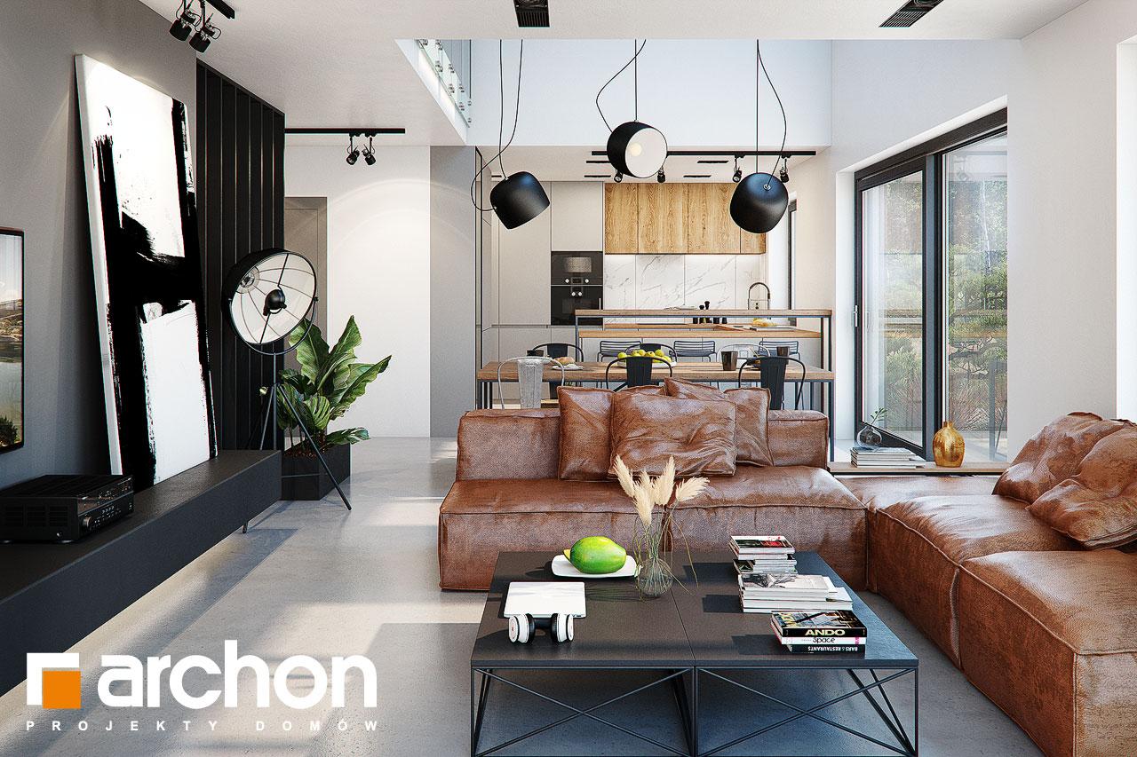Проект будинку ARCHON+ Будинок в гречці (Г2) денна зона (візуалізація 1 від 2)