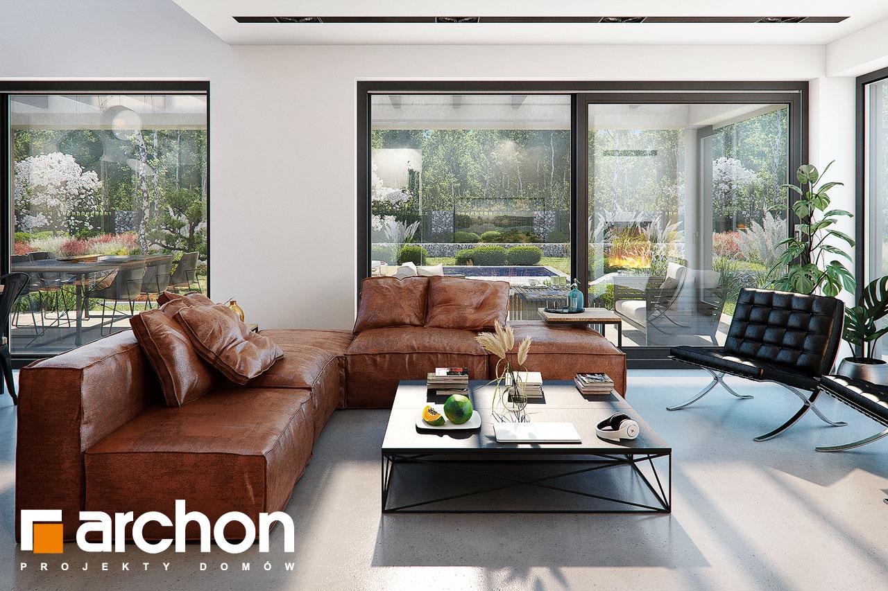 Проект будинку ARCHON+ Будинок в гречці (Г2) денна зона (візуалізація 1 від 3)