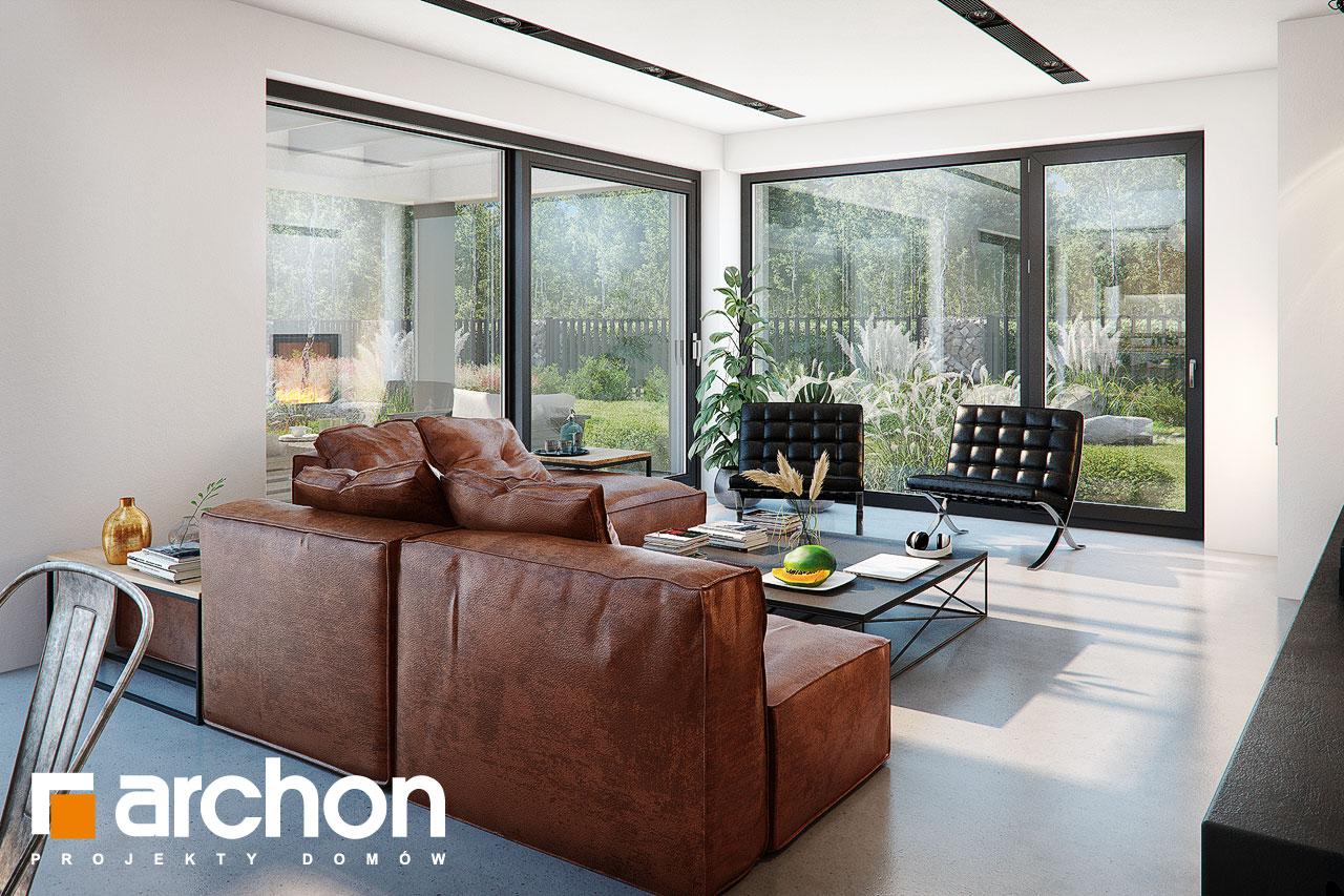 Проект будинку ARCHON+ Будинок в гречці (Г2) денна зона (візуалізація 1 від 5)