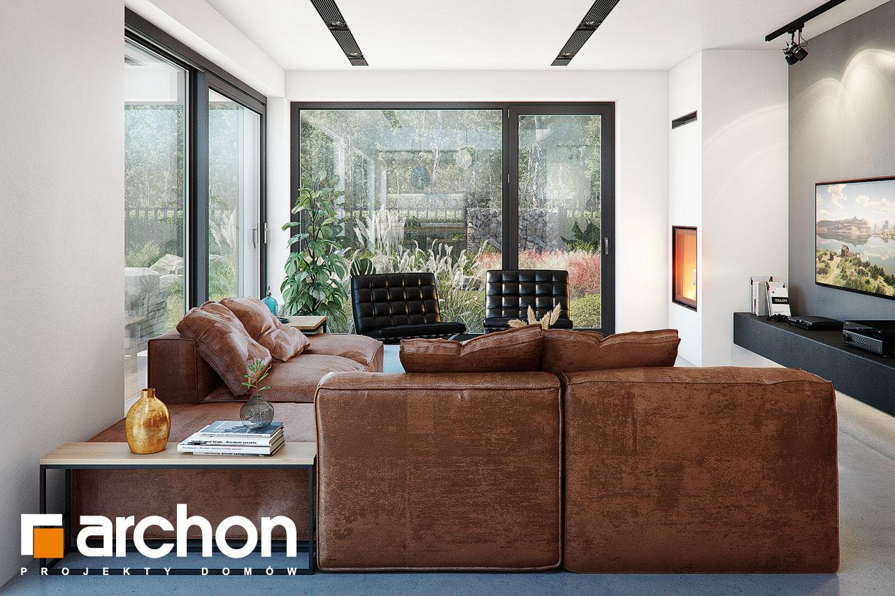 Проект будинку ARCHON+ Будинок в гречці (Г2) денна зона (візуалізація 1 від 6)