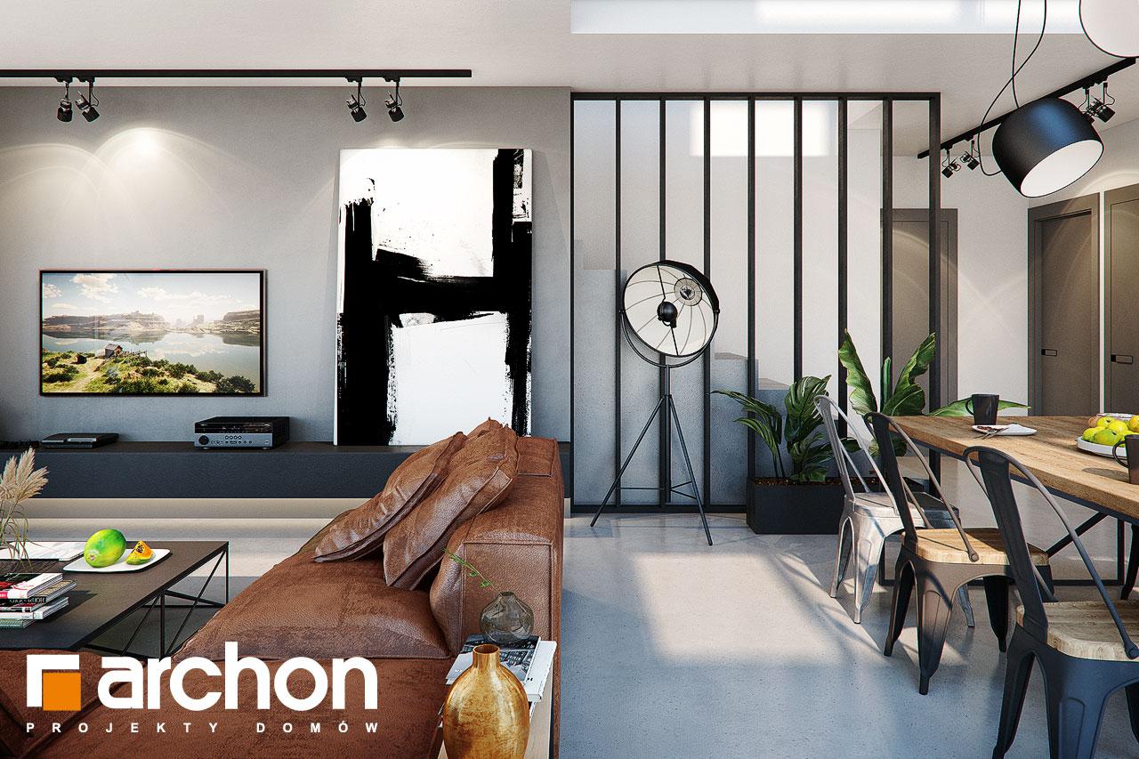 Проект будинку ARCHON+ Будинок в гречці (Г2) денна зона (візуалізація 1 від 7)
