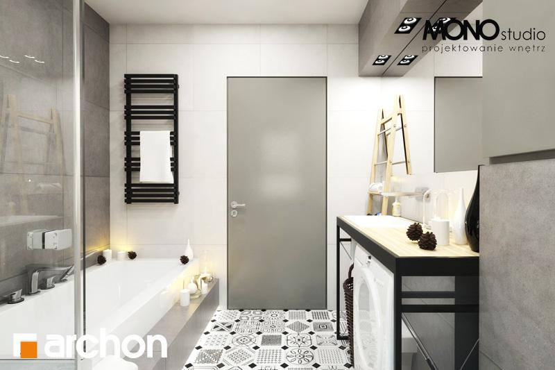 Проект будинку ARCHON+ Будинок під червоною горобиною 11 (Н) візуалізація ванни (візуалізація 3 від 2)