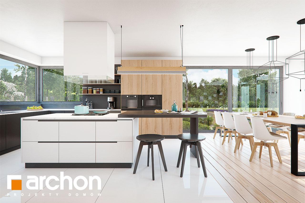 Проект дома ARCHON+ Дом в фелициях (Г2) визуализация кухни 1 вид 1