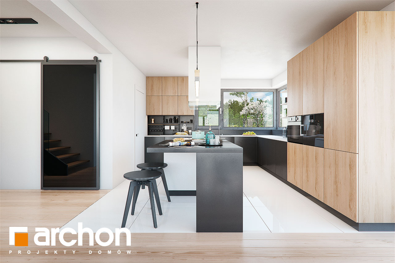 Проект дома ARCHON+ Дом в фелициях (Г2) визуализация кухни 1 вид 2