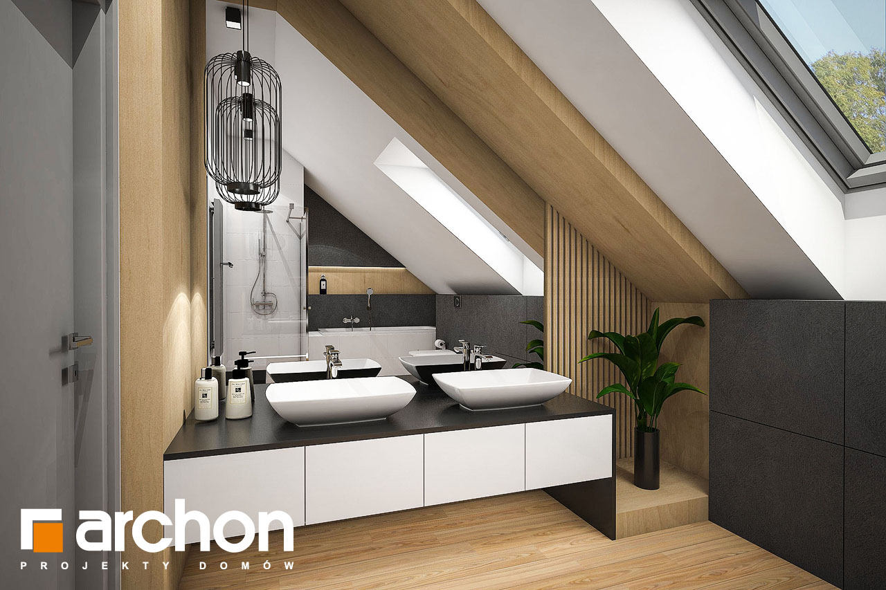 Проект будинку ARCHON+ Будинок у феліціях (Г2) візуалізація ванни (візуалізація 3 від 1)