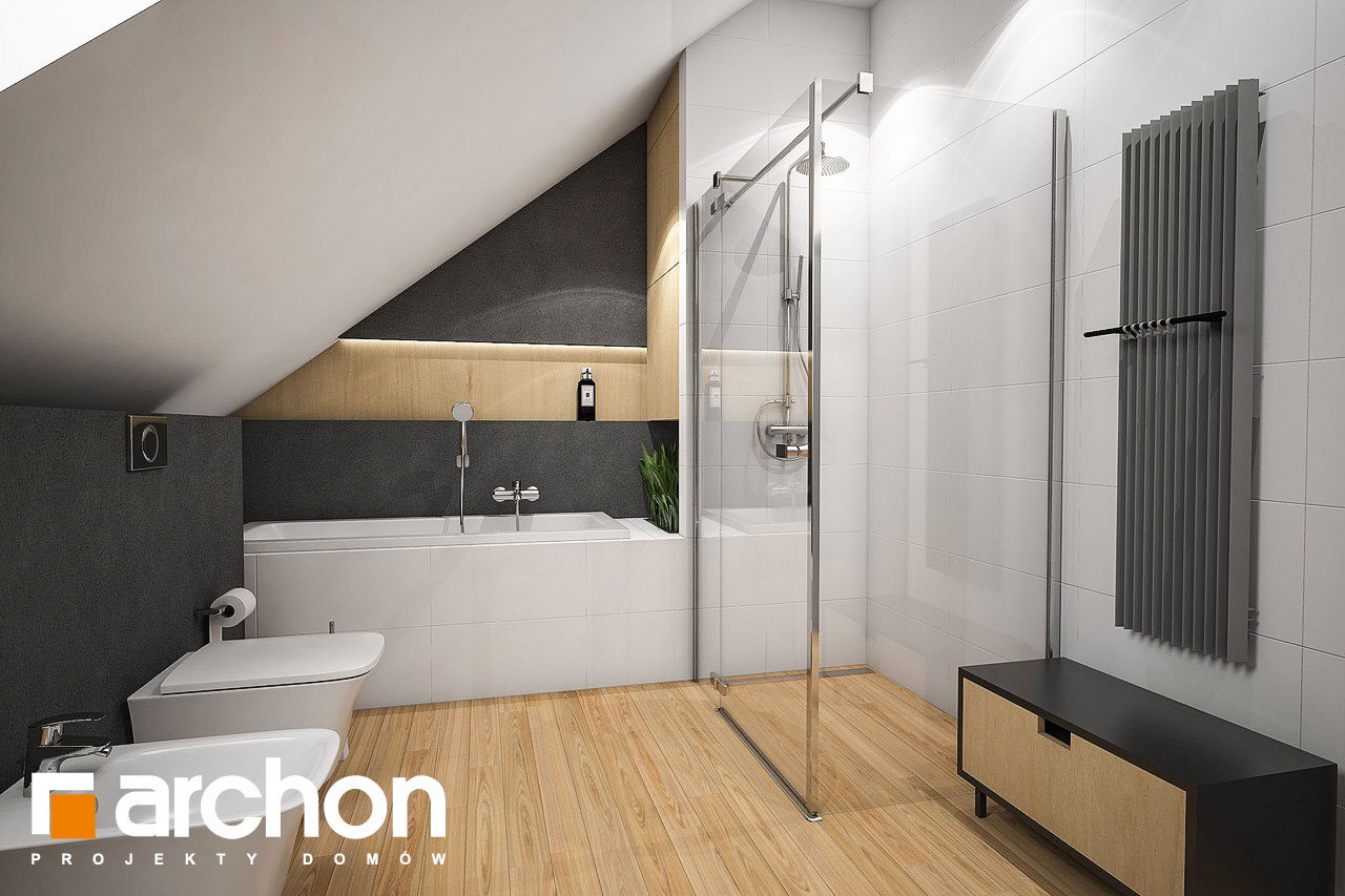 Проект будинку ARCHON+ Будинок у феліціях (Г2) візуалізація ванни (візуалізація 3 від 3)