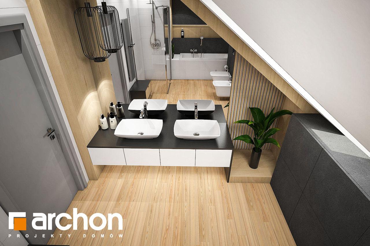Проект дома ARCHON+ Дом в фелициях (Г2) визуализация ванной (визуализация 3 вид 2)