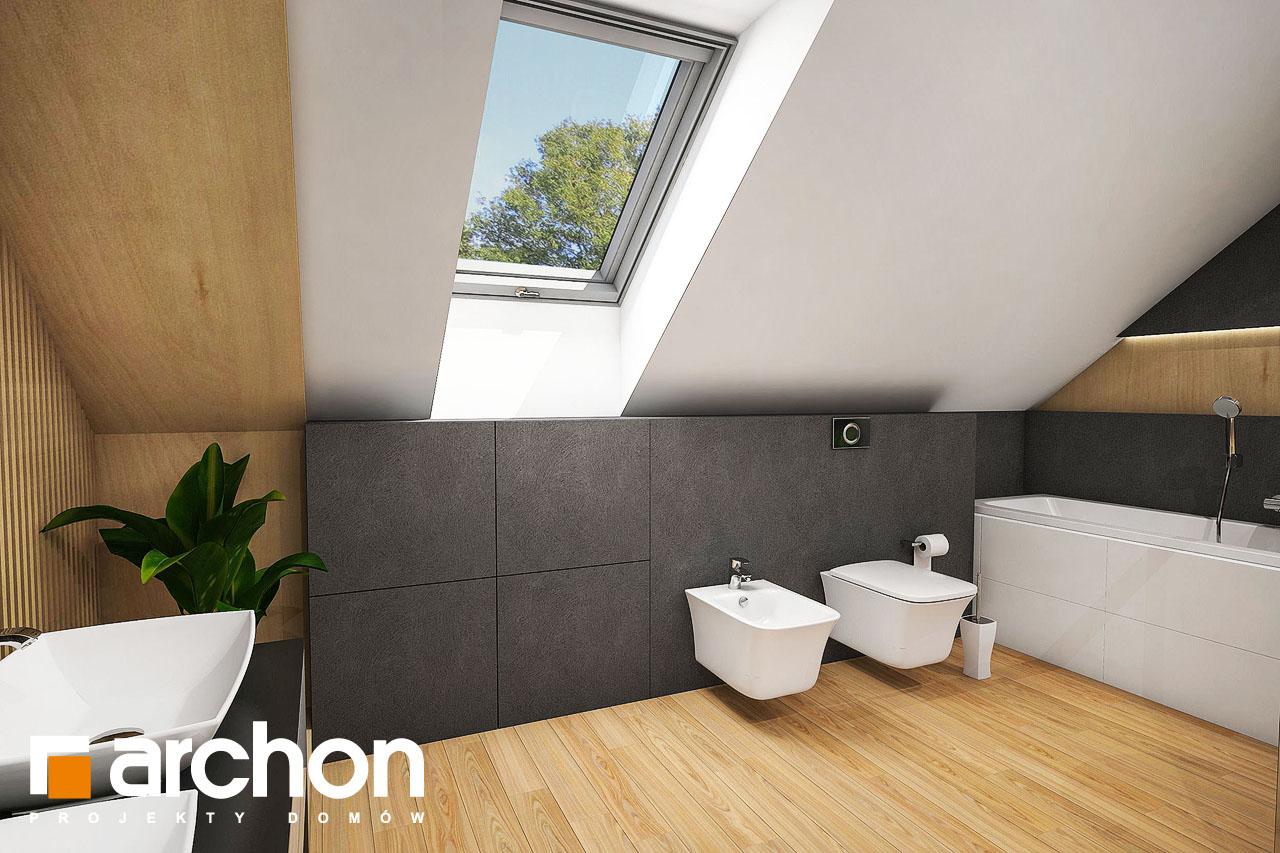 Проект дома ARCHON+ Дом в фелициях (Г2) визуализация ванной (визуализация 3 вид 4)