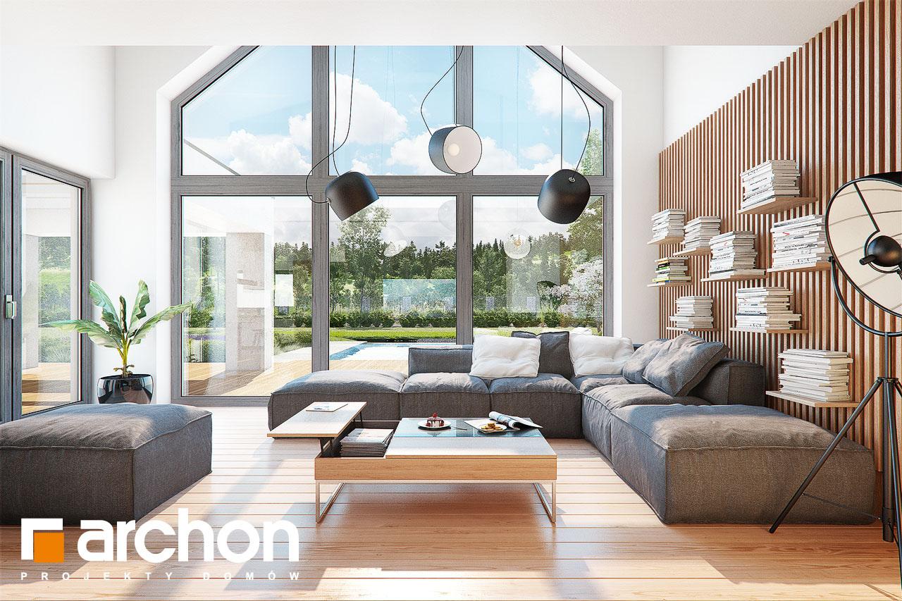 Проект будинку ARCHON+ Будинок у феліціях (Г2) денна зона (візуалізація 1 від 5)