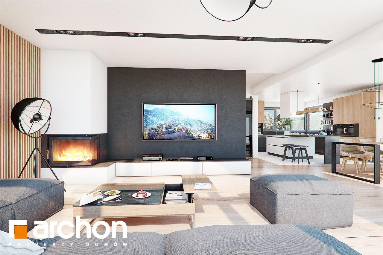 Проект дома ARCHON+ Дом в фелициях (Г2) дневная зона (визуализация 1 вид 1)