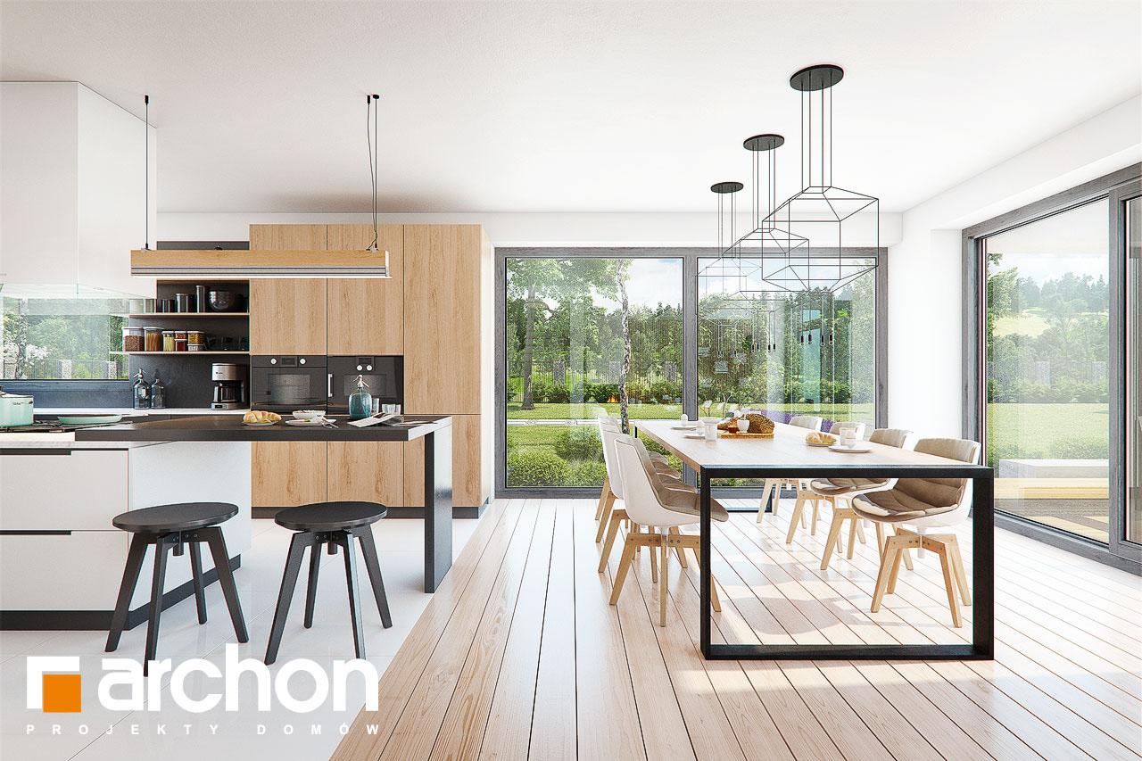 Проект дома ARCHON+ Дом в фелициях (Г2) дневная зона (визуализация 1 вид 2)
