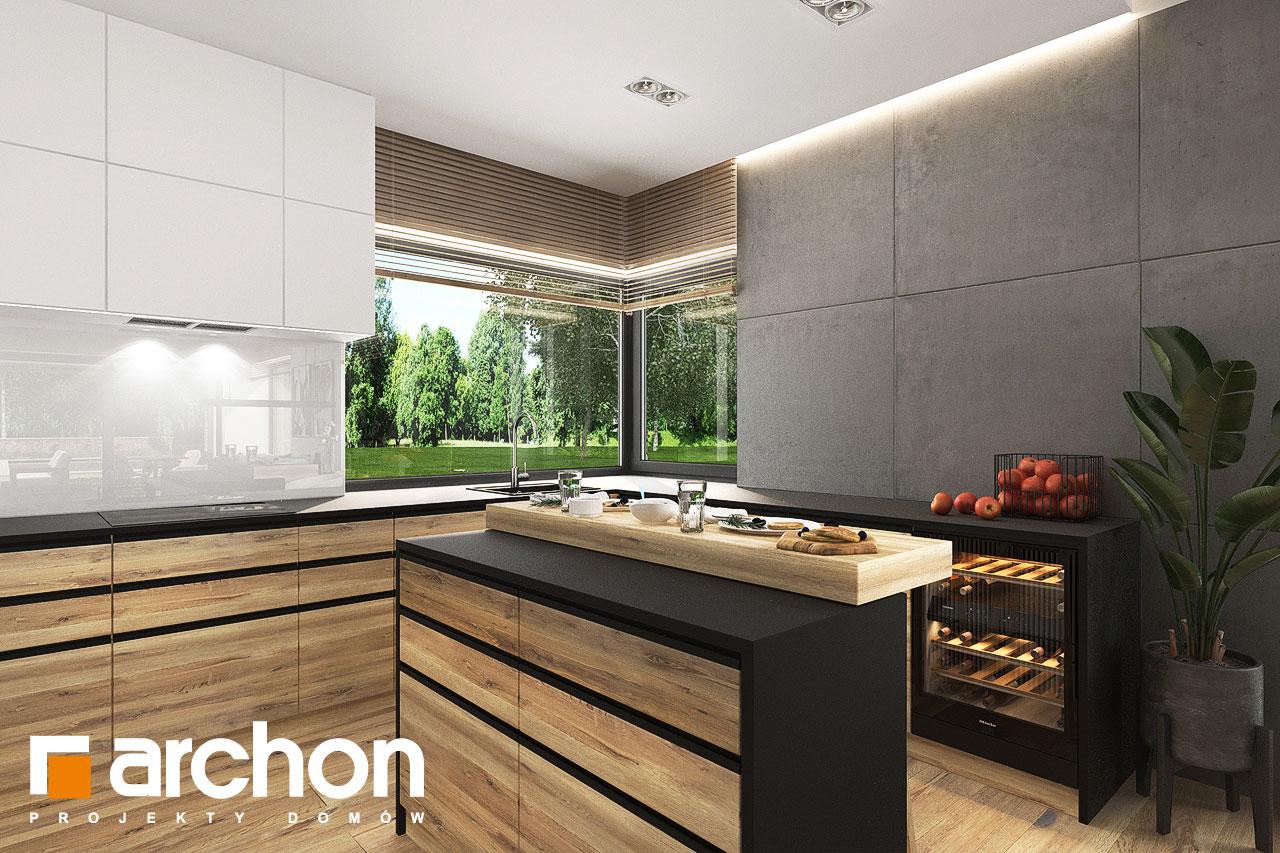 Проект будинку ARCHON+ Будинок в хакетіях 10 візуалізація кухні 1 від 2