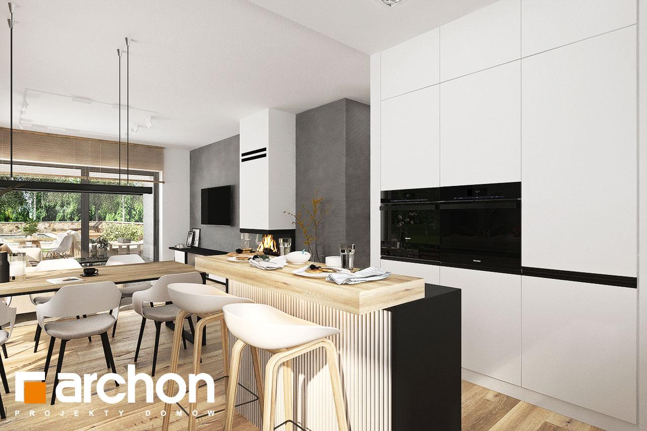 Проект будинку ARCHON+ Будинок в хакетіях 10 візуалізація кухні 1 від 3