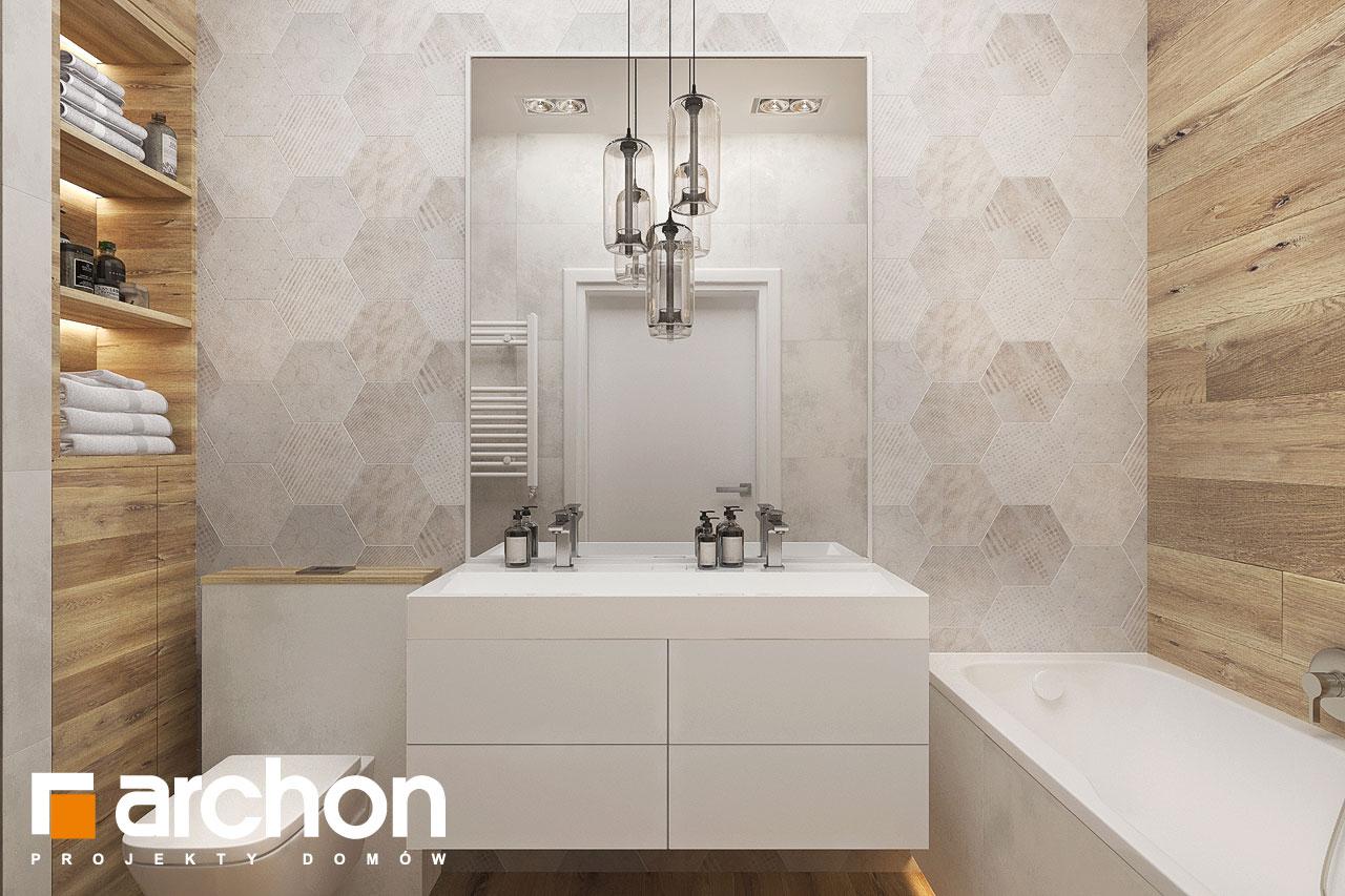 Проект будинку ARCHON+ Будинок в хакетіях 10 візуалізація ванни (візуалізація 3 від 1)