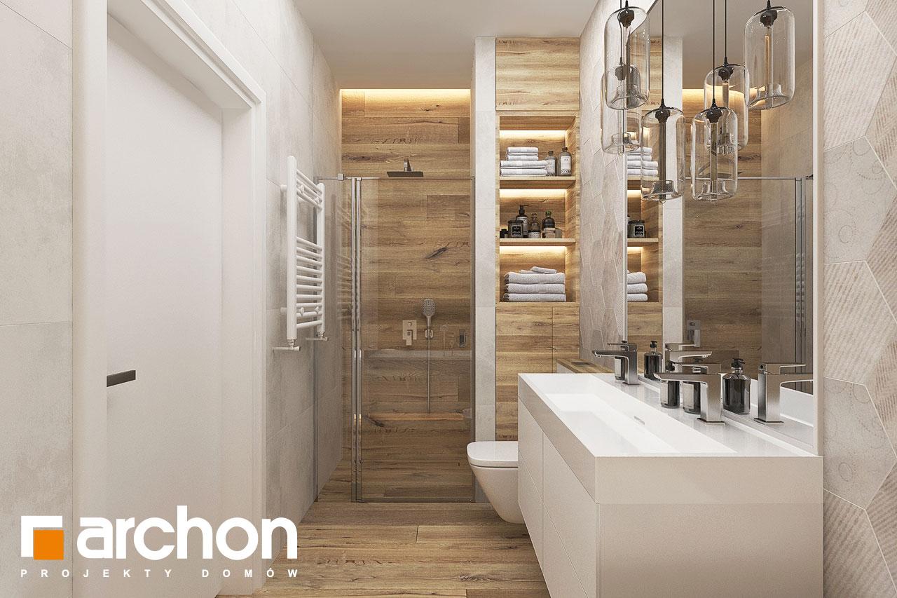 Проект будинку ARCHON+ Будинок в хакетіях 10 візуалізація ванни (візуалізація 3 від 2)