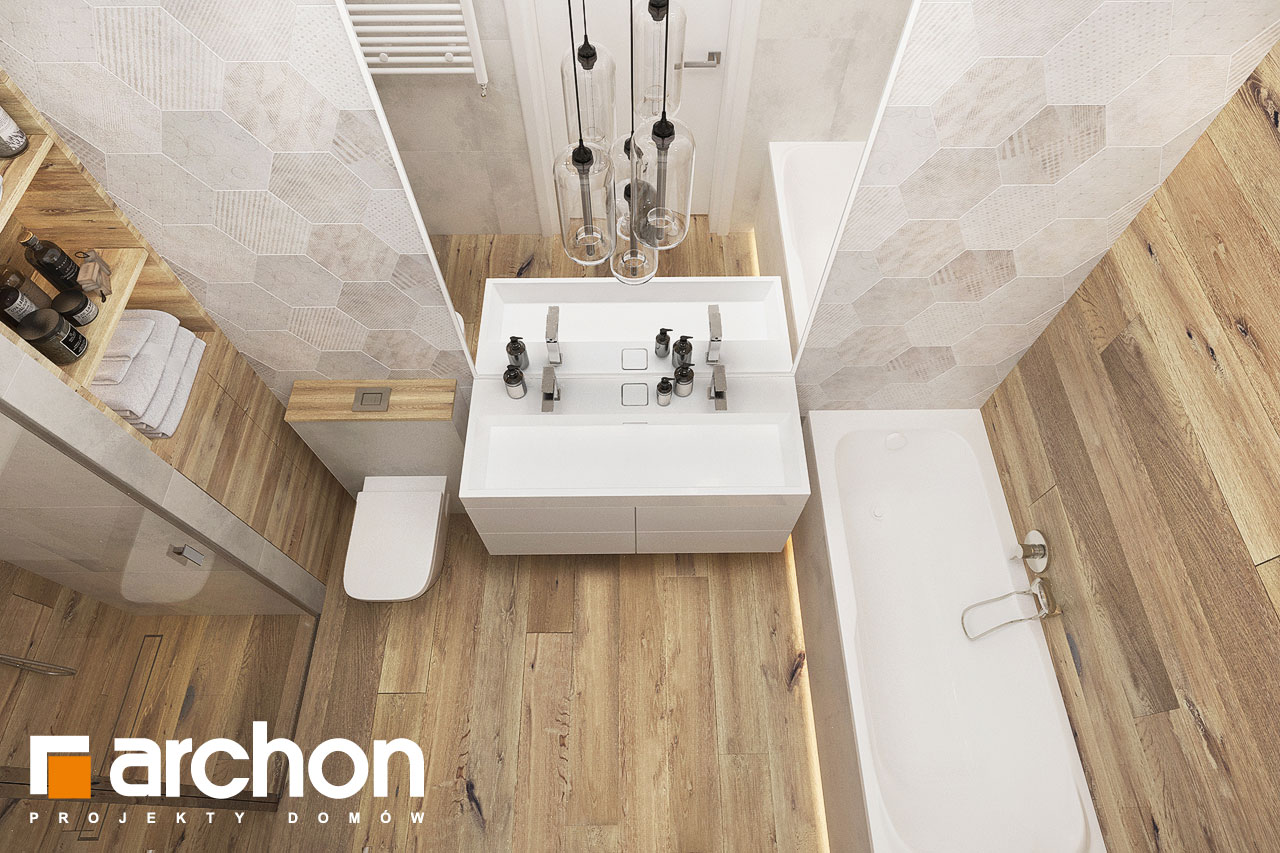 Проект будинку ARCHON+ Будинок в хакетіях 10 візуалізація ванни (візуалізація 3 від 4)