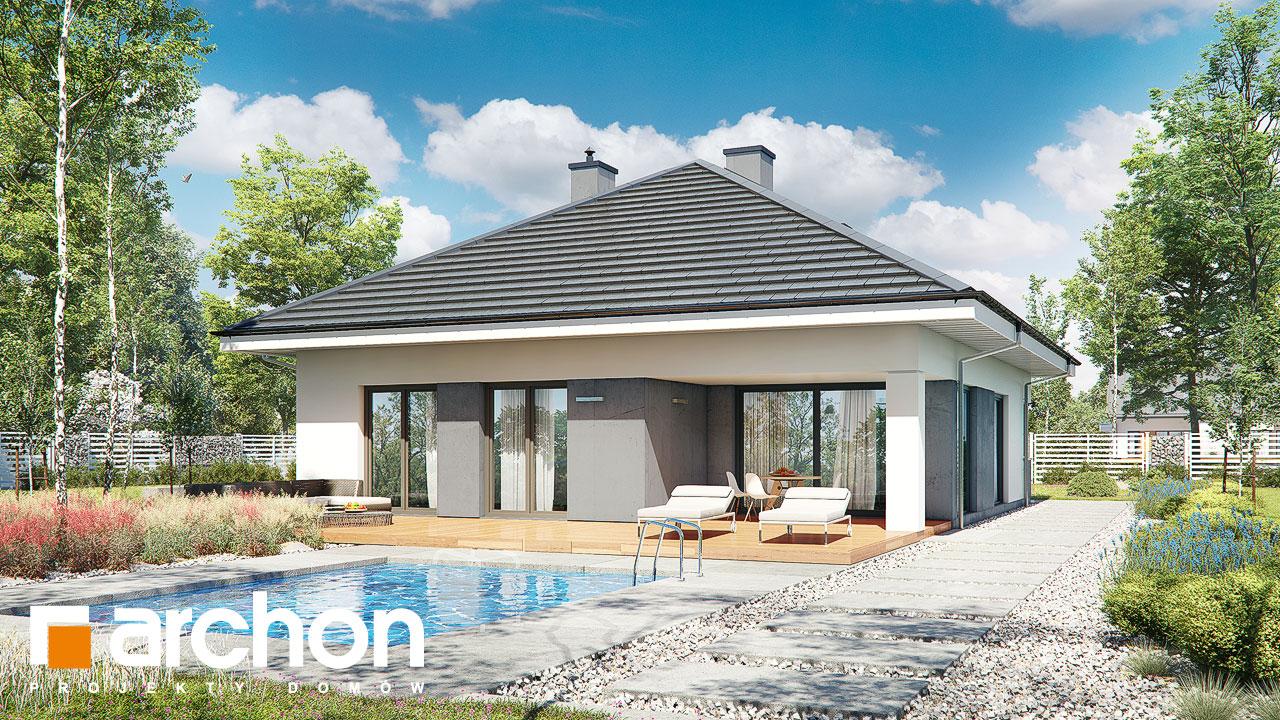 Проект будинку ARCHON+ Будинок в хакетіях 10 Вид 2