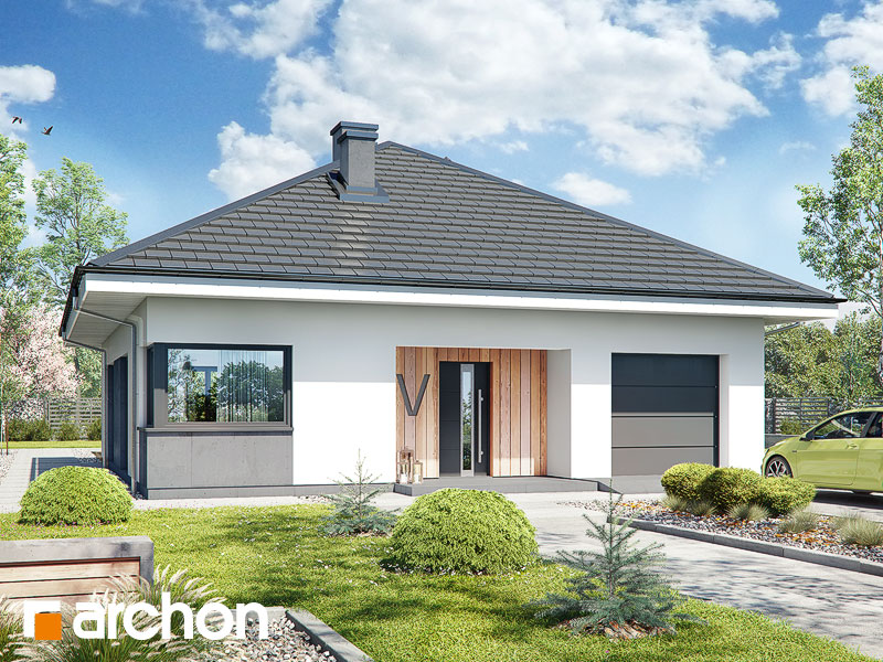 Проект будинку ARCHON+ Будинок в хакетіях 10 Вид 1
