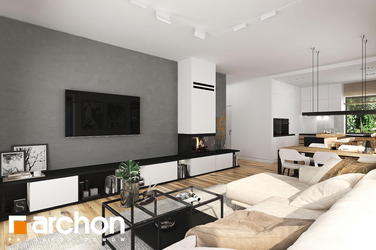 Проект будинку ARCHON+ Будинок в хакетіях 10 денна зона (візуалізація 1 від 2)