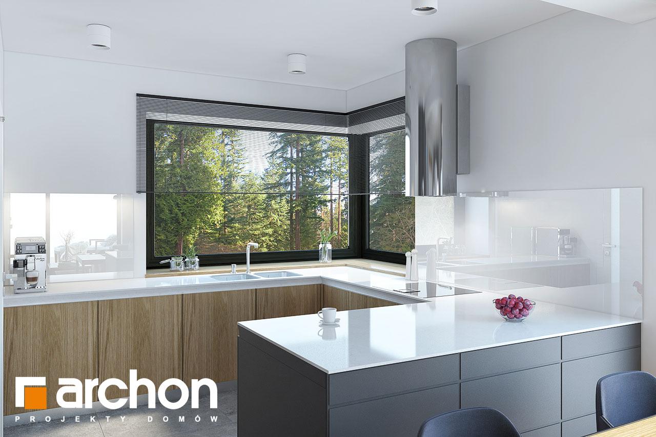 Проект будинку ARCHON+ Будинок у гвоздиках візуалізація кухні 1 від 1