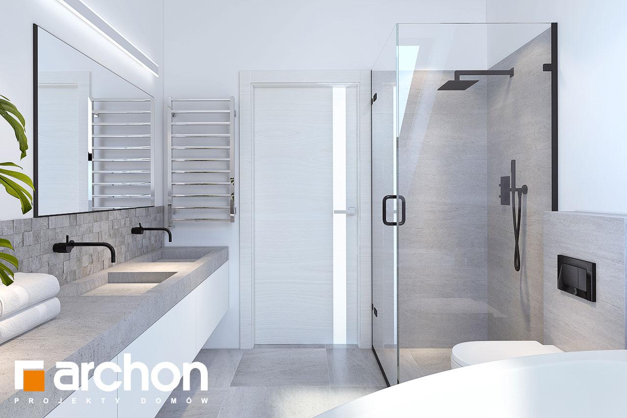 Проект будинку ARCHON+ Будинок у гвоздиках візуалізація ванни (візуалізація 3 від 3)